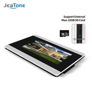 Image 2 - 터치 스크린 유선 와이파이 IP 비디오 도어 폰 인터폰 비디오 초인종 빌라 아파트 액세스 제어 시스템 모션 감지