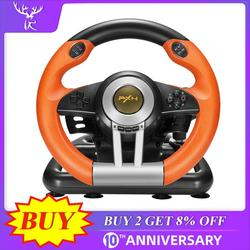 IBen PXN V3II سباق لعبة عجلة القيادة 180 درجة USB الاهتزاز المزدوج موتور طوي دواسة ل PC/PS3/4/Xbox-One/التبديل Orang