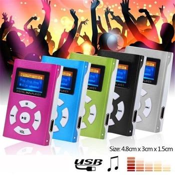 цена на Car Auto Mini MP3 Portable USB Music Player LCD Screen Support 32GB Micro SD TF Card