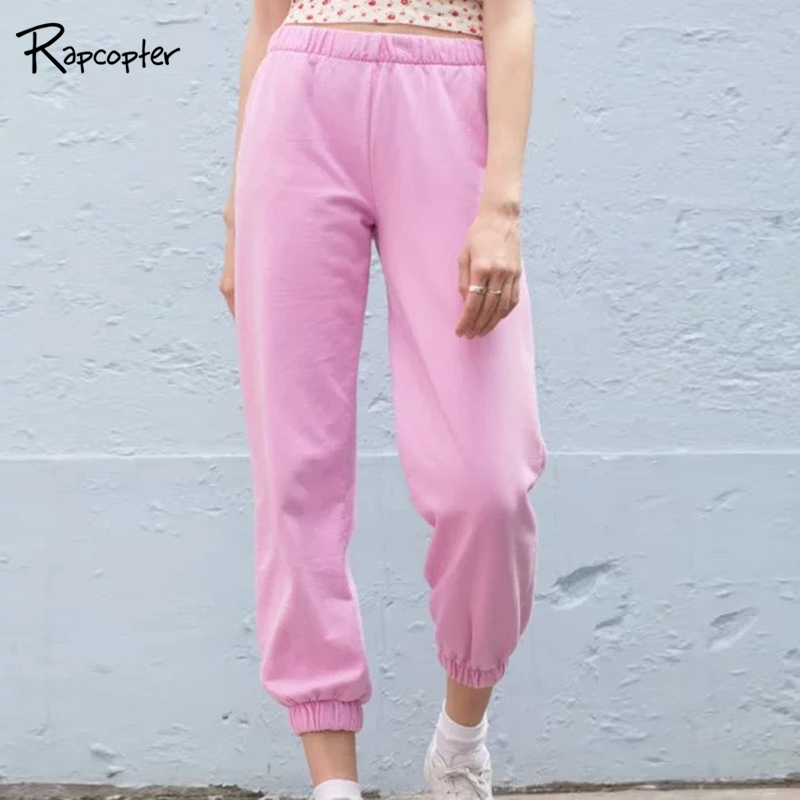 Rapcopter High Elastic Waist Women Sporty Pants Women Casual Cotton Elastic Breathable Harem Pants Fashion Fitness Running Pants