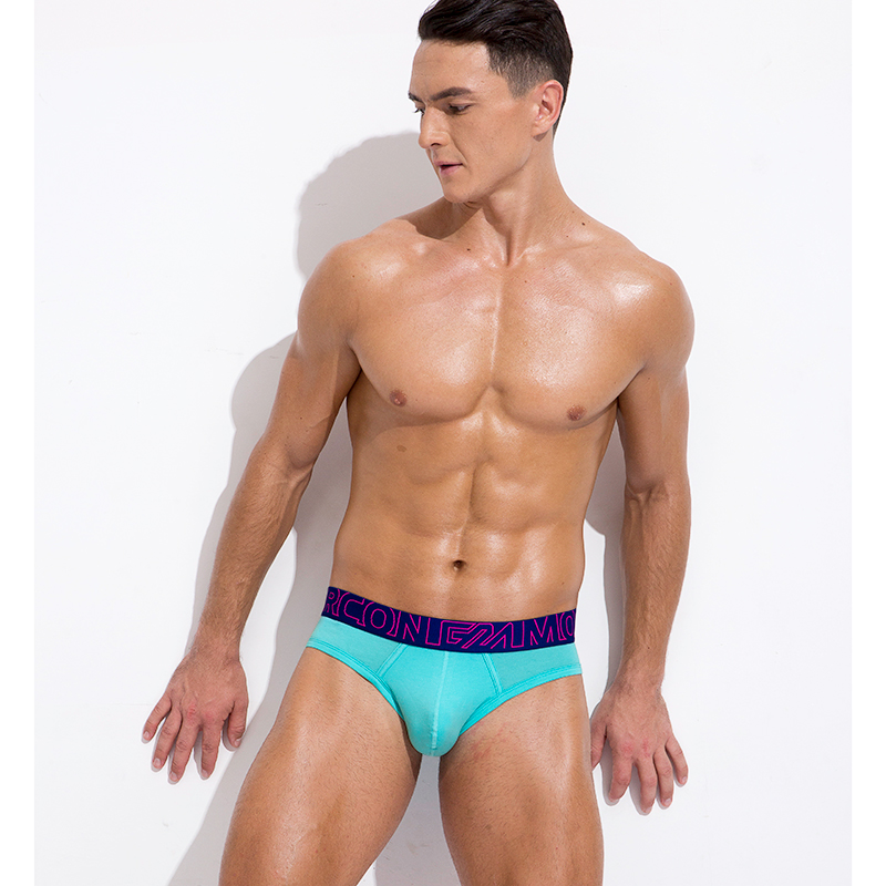 Неоновая модель нижнего белья для пениса, мягкие дышащие хлопковые трусы с большим карманом в синем цвете и блестящим поясом, дизайнерские трусы для молодых мужчин| |   | АлиЭкспресс