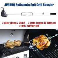 Electric Automatic BBQ Grill Rotisserie BBQ Motor Spit Roaster Rod Fork Roast Branch Outdoor Camping Barbecue Tools 110V/230V