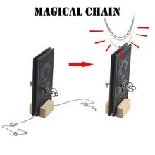 Волшебная цепь Волшебные трюки проникают волшебник магии крупным планом Иллюзия реквизит для фокусов ментализм невозможна цепь через твердый ключ