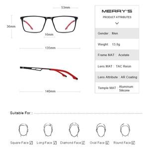 Image 4 - MERRYS DESIGN Men Sport Glasses Frame Myopia Prescription Eyeglasses Acetate Frame Aluminum Temple With Silicone Legs S2270
