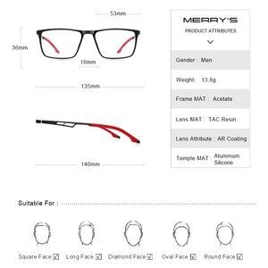 Image 4 - MERRYS 디자인 남자 스포츠 안경 프레임 근시 처방 안경 아세테이트 프레임 실리콘 다리 s2270와 알루미늄 사원