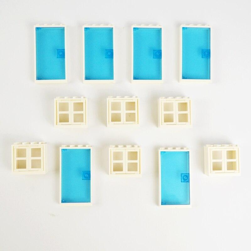 30pcs Doors Windows Small Bricks Bulk MOC Parts Small Building Blocks DIY Educational Creator Compatible All Brands Brick Toys