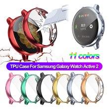 1 шт. Тонкий спорт гальваника экран протектор мягкий полный чехол ТПУ часы чехол для Samsung Galaxy часы активный 2 40 44 мм