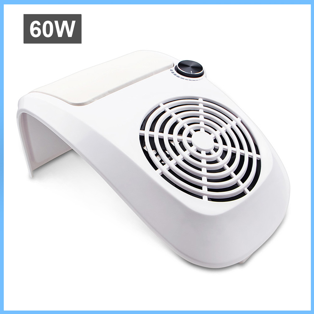 60W Nail Dust Suction Collector Manicure Salon Tools Vacuum Cleaner with Powerful Fan Dust Collecting Bag Nail Art Equipment-in Nail Art Equipment from Beauty & Health