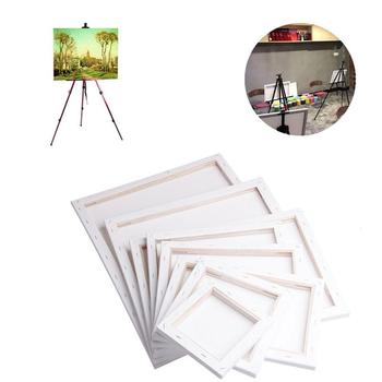 White Blank Rectangle Canvas Board Wooden Frame Art Artist Oil Acrylic Paints image
