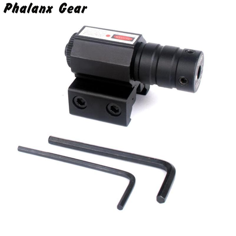 50-100M Range 635-655nm Red Dot Laser Sight Adjustable 11mm 20mm Picatinny Rail Hunting accessory New
