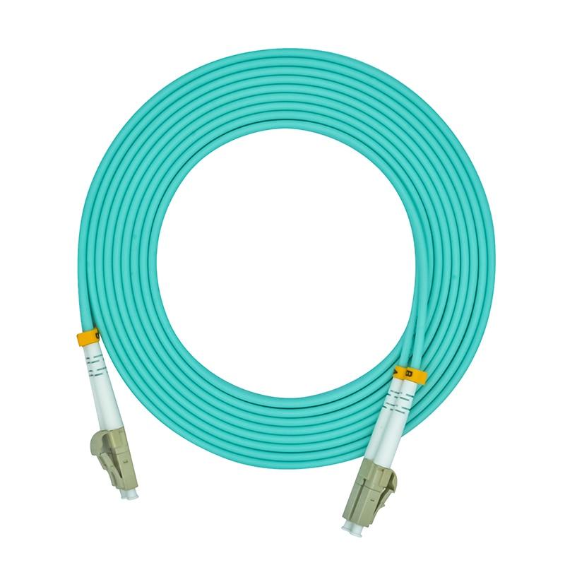 1Meters LC To LC Duplex 10 Gigabit 50/125 LC/UPC Multimode Fiber Optical Cable OM3 Aqua 10GB,Patch Cord  Jumper LC-LC