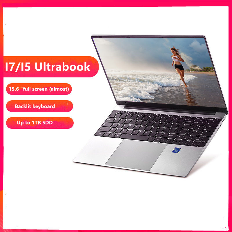 15.6 Inch Core I7 /I5 Windows 10 8GB RAM128G/ 256G/512G/1TB SSD Laptop with Backlit Keyboard Metal laptop Notebook Ultrabook-1
