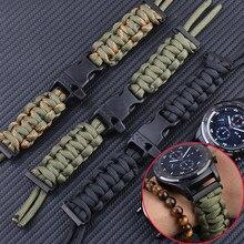 Watchabnd Geflochtene Strap für Samsung Galaxy Uhr 42mm 46mm Bands 22mm für Samsung Galaxy Uhr 3 41mm 45mm Nylon Sport Armband