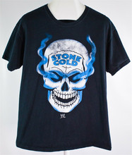 Wwf Stone Cold Steve Austin Schedel Rook Vintage 2009 Heren T-Shirt Tee T-shirt Tee Shirt(China)