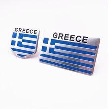 Automóvel Da Motocicleta Acessórios do Exterior Bandeira Nacional Grécia Liga de Alumínio Adesivos de Carro