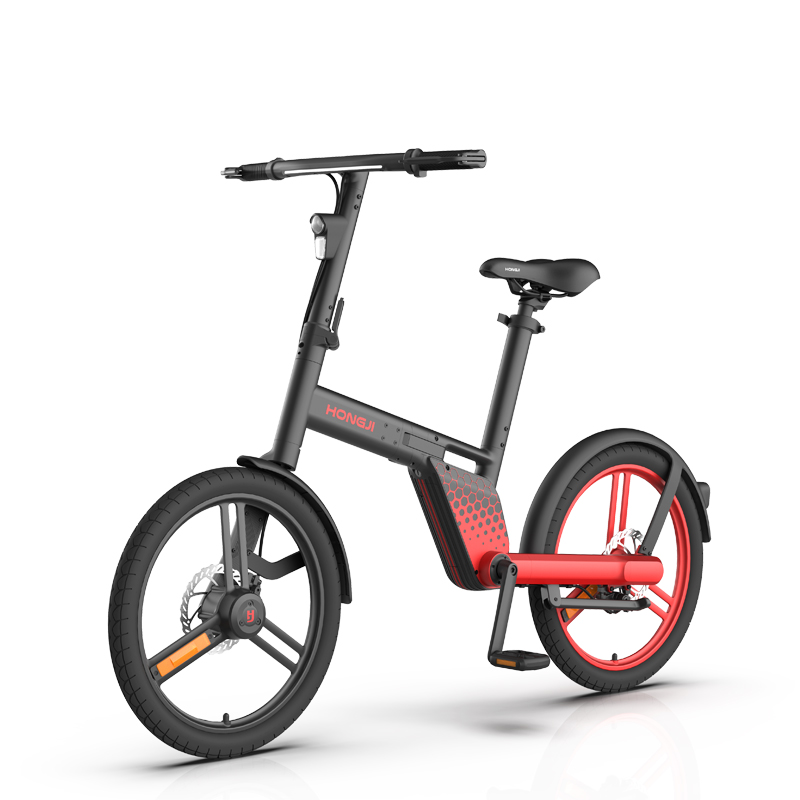 Smart mini electric folding ebike without chain shaft transmission lightweight travel 36v lithium battery electric bike