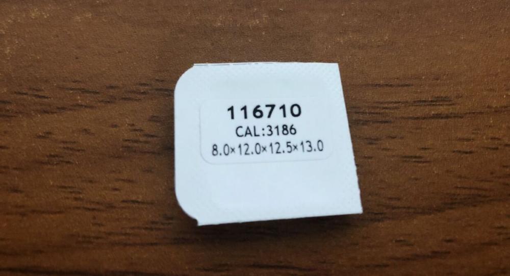 Aftermarket Watch Hands Rlx Red/Green/Blue/Silver GMT Cal: 3186 - Luminous