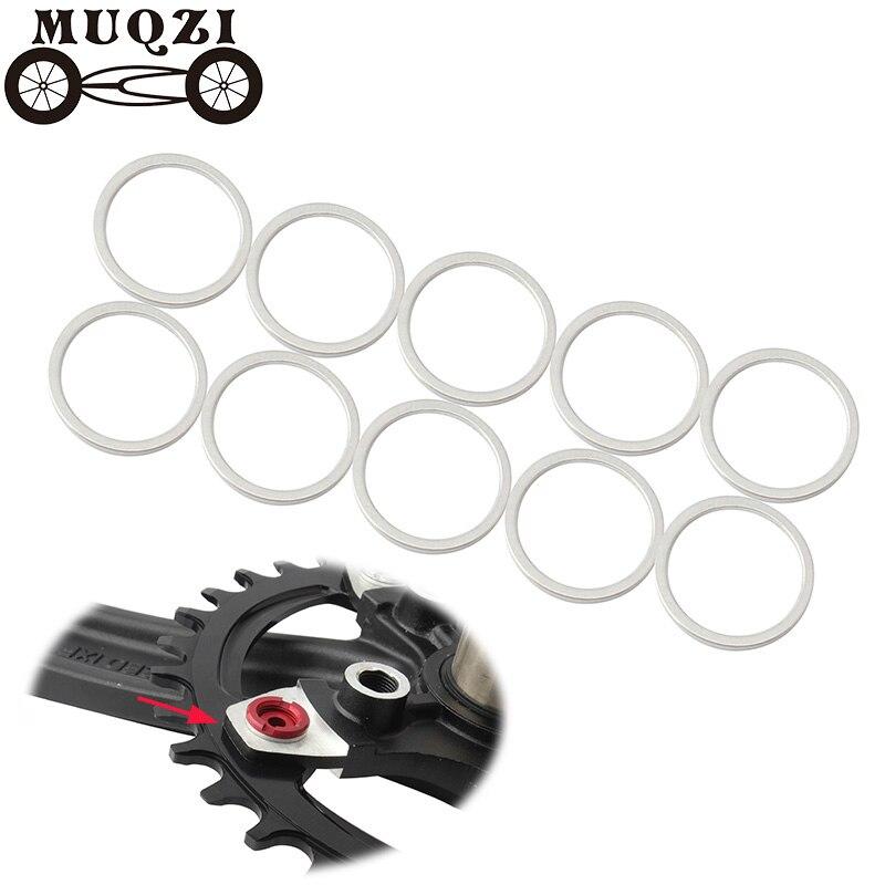 MUQZI Mountain Bike Chain Wheel Plate Screw Gasket Nail Dental Plate Screw Bolt Washer Fixed Gear nail Change Crankset Bolt Ring Bicycle Frame     -