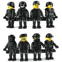 Military Special Forces Soldaten Ziegel Figuren Guns auto Waffen Kompatibel Bewaffneten SWAT Bausteine Spielzeug