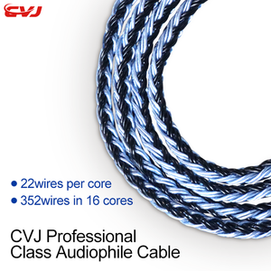 Image 2 - CVJ 16 strand 352core silver plated profession cable 0.75mm 0.78mm mmcx headphone upgrade cable Spare Replace cable 3.5mm plug