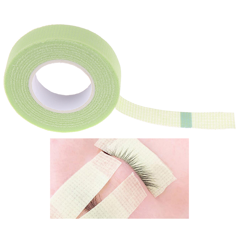 Green Medical Non-woven Fabric Eyelash Extension Supply With Holes Breathable False Eyelash Extensions Makeup Tools