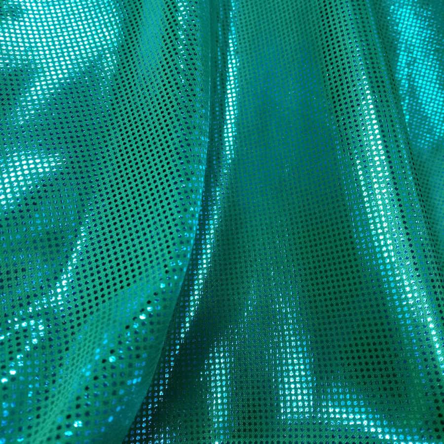 Glossy ตกแต่งผ้าโพลีผ้าเงา bronzing silver dots party วัสดุสำหรับ DIY cosplay เครื่องแต่งกาย 1 Yard