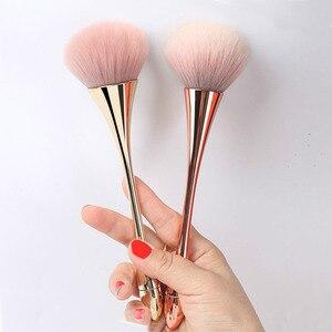 Large Rose Gold Foundation Powder Blush Brush Professional Make Up Brush Tool Set Cosmetic Very Soft Big Size Face Makeup Brushe(China)