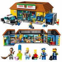 King (83004) 16004 House KWIK-E-MART Supermarket 2232Pcs Model Building Block Bricks Toys Gift Compatible 71016