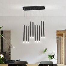 현대 LED 펜 던 트 조명 30W 40W 블랙/로즈 골드 거실 다이닝 룸 바 홈 데코 크리 에이 티브 펜 던 트 조명
