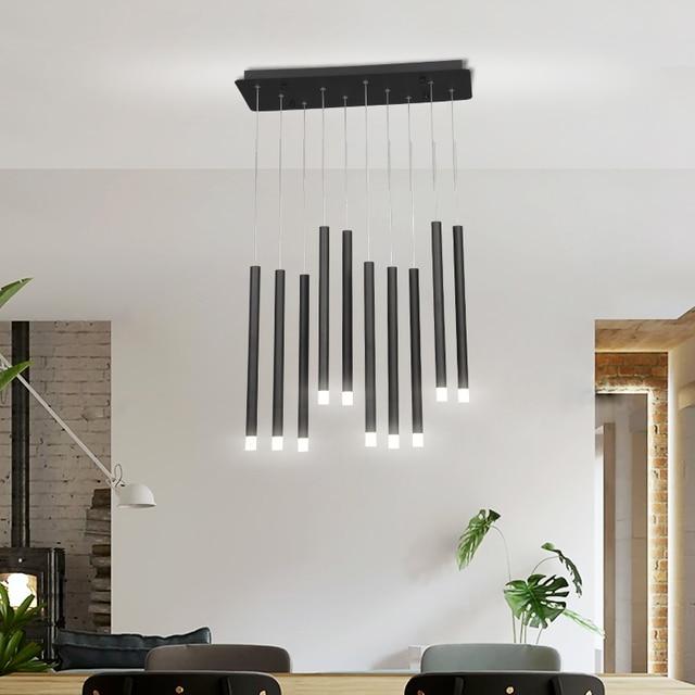 Modern LED Pendant Lights 30W 40W Black/Rose Gold Hanging Lamp For Living Dining Room Bar Home Deco Creative Pendant Lighting