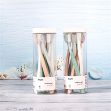 8 adet/takım varil Macarons yumuşak kıllı diş fırçası yetişkin diş fırçaları koruyucu kapak ile diş bakımı diş fırçası satış