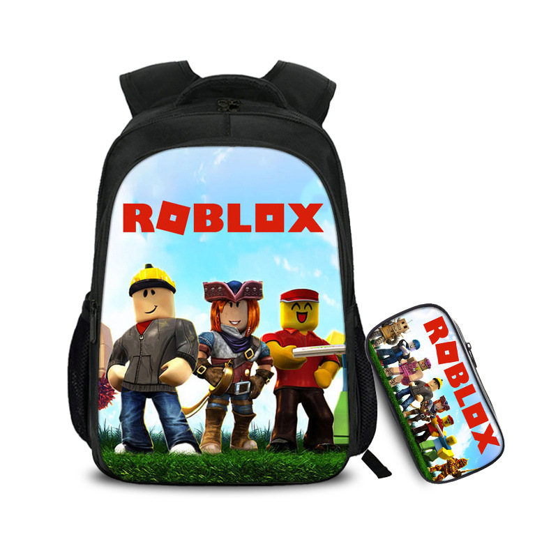 2 Pcs/set Game Backpack School Pencil Case Students Students Best Gifts For Children School Bags Mochila Boy Kid Bags