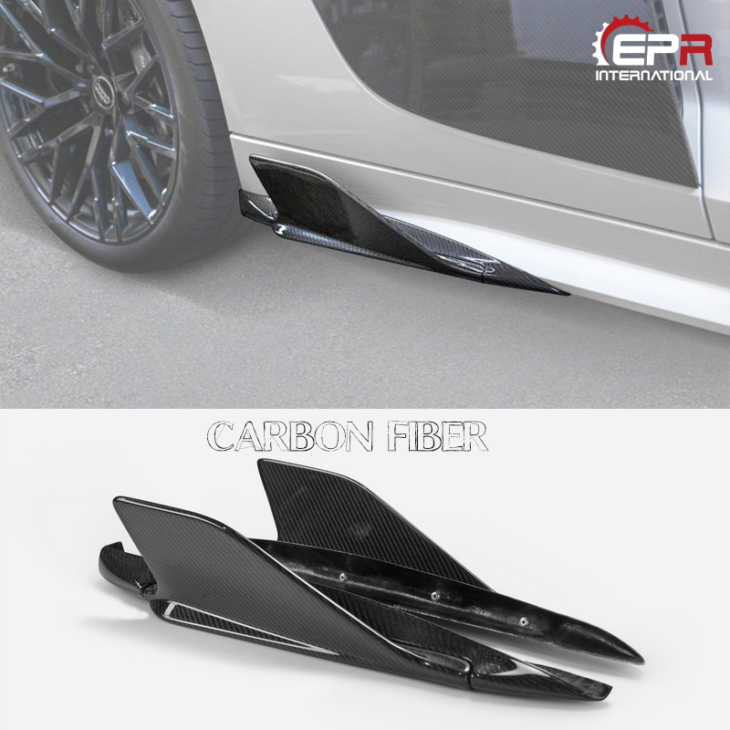 Car styling For Audi 2015 On R8 Type 4S CRS Style Carbon Fiber Side Fins Glossy Finish Rear Add On Garnish Tuning Extension Kit