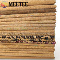 Meetee 90X138cm Natural Cork Imitation Leather Fabric Printed PU Bag Decoration DIY Luggage Home Shoes Gift Accessories SL006