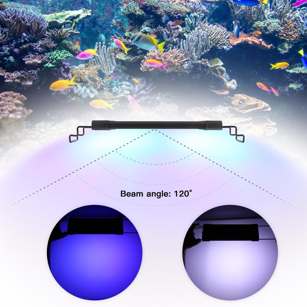 LEDGLE 11W 44Leds Aquarium Light Compact Fish Tank Lamp Splash proof Aquatic Plant Lamp 31 45CM Extensible Fish LED Grow Lights in LED Grow Lights from Lights Lighting