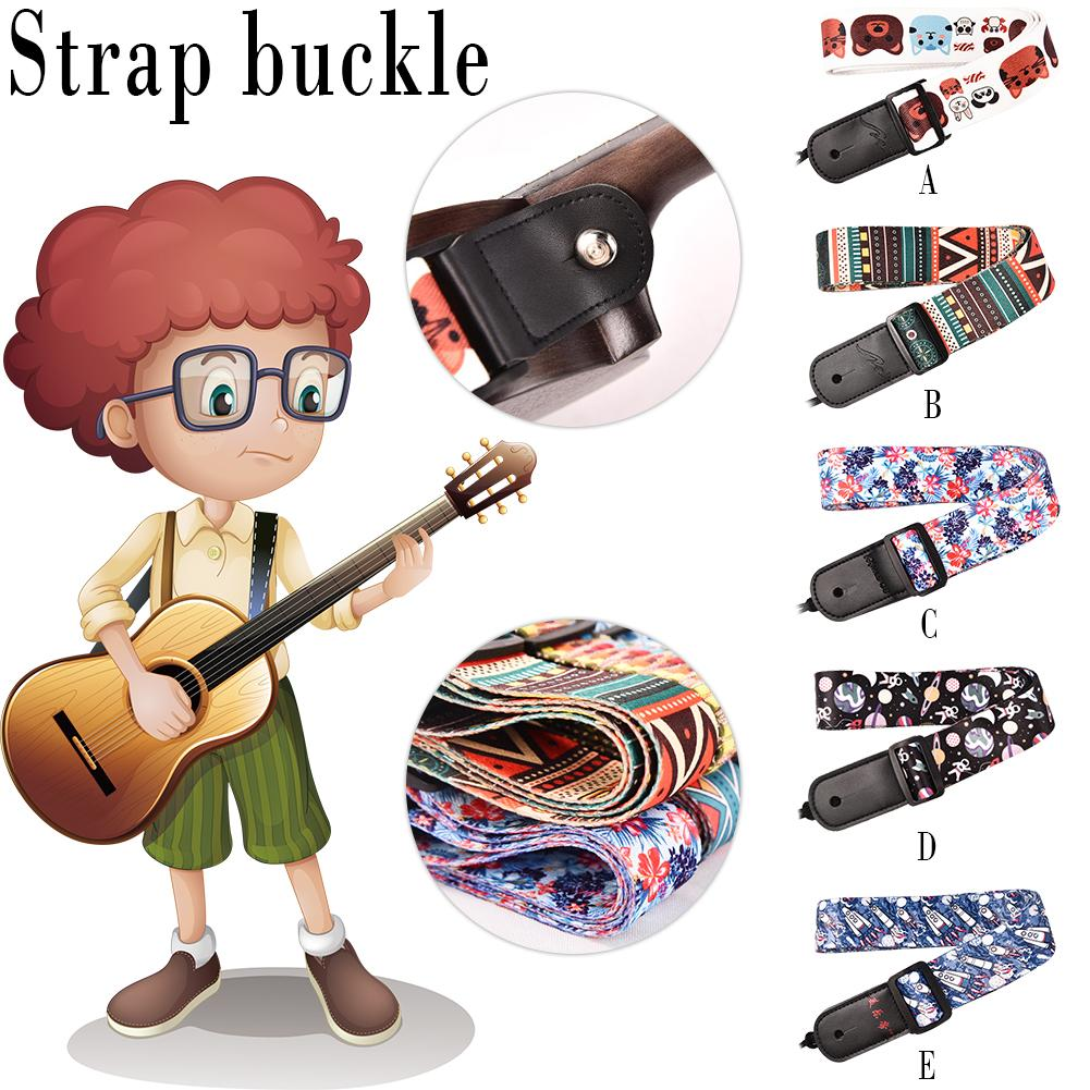 Ukulele Oblique Span Strap National Wind Strap Starry Sky Musical Instrument Accessories Professionalized Cross Pattern Ukulele