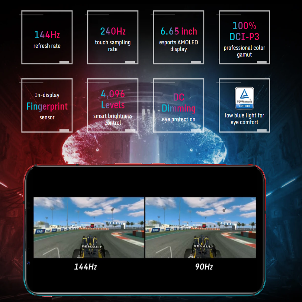 2020 neue Nubia Rot Magie 5G Globale Version Gaming telefon Snapdragon 865 8/12 GB RAM 128/512GB ROM 144Hz aktualisieren rate Smartphone
