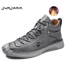 Martens Boots JUNJARM Black Winter Casual Warm Plush Ankle Comfortable Men 39-48