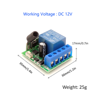 Image 5 - Universal Remote Control DC 12V 1CH rf 433 Relay Receiver and Transmitter for door Controller\ Remote Light Switch\ DIY remotes