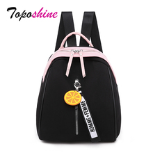 Topashine Mochila pequeña de mujer Oxford Calidad Suave, mochila negra y amarilla, multifuncional, para compras