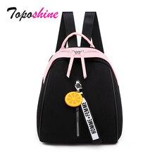 Toposhine mały plecak Oxford dla kobiet miękka jakościowa żółty czarny plecak Korea wielofunkcyjny plecak na zakupy dla pani