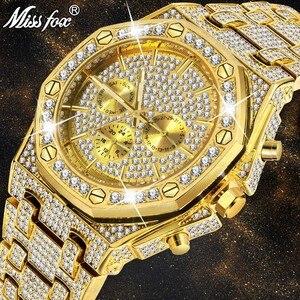 Мужские часы MISSFOX, классические водонепроницаемые часы из нержавеющей стали с календарем и золотым ремешком, роскошный дизайн, 2020