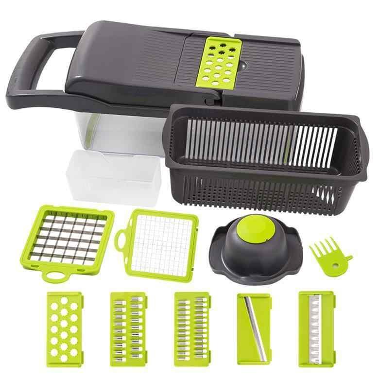 Gemüse Obst Slicer Reibe Cutter Peeler Multifunktionale Reibe Ablauf Korb Küche Chopper Slicer Mit Großen Behälter