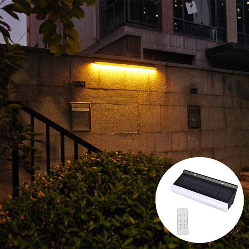 luz solar levou lampada de parede com controle remoto duplo efeito 2 pcs lote lampada solar