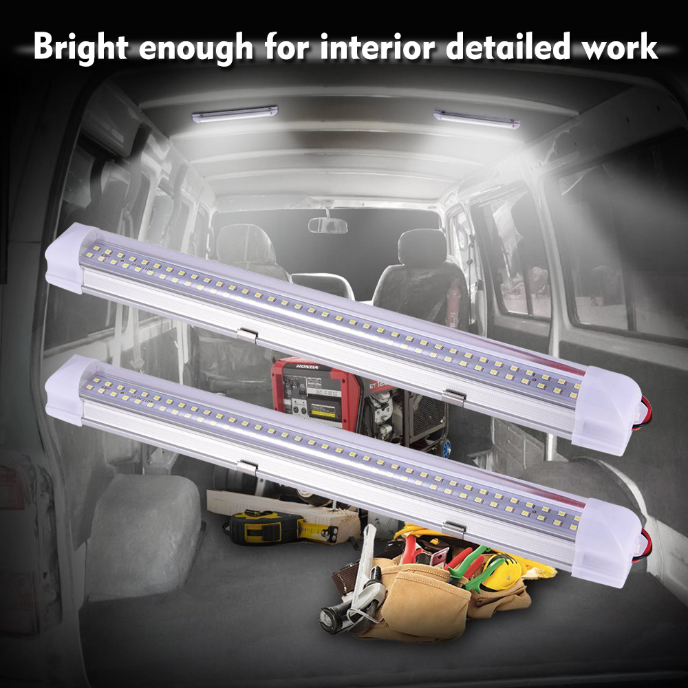 "13.5"" Car Interior Led Work Light Bar 5W 72LEDs Lamp Tube with Switch for Cabinet Van Lorry Truck Camper Boat Ceiling Light D30 1"