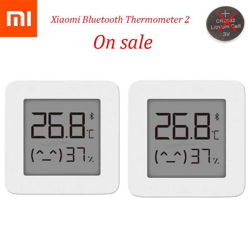 2020 In Stock XIAOMI Mijia Bluetooth Thermometer 2 Wireless Smart Electric Digital Hygrometer Thermometer Work with Mijia APP(China)
