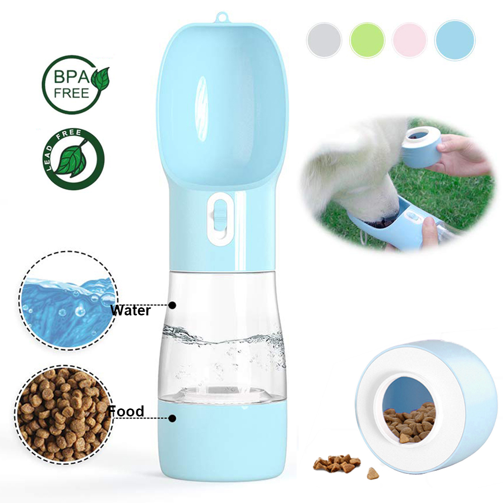Pet Dog Water Bottle Portable Drinking water Feeder Bowl dog cat food feeding for Puppy dog cat Outdoor Walking Travel Supplies(China)