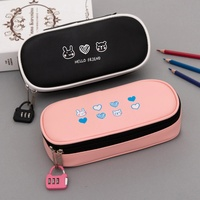 PU Pencil Case with Pen Holder  Large Capacity Stationery Pen Bag  Cosmetic Bag  Bluetooth Headset  School Supplies Pencil Box