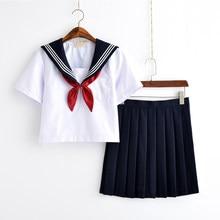 Uniforme d'écolière blanc, uniformes d'école de marin de classe japonaise, vêtements d'étudiants pour filles Anime COS, costume de marin
