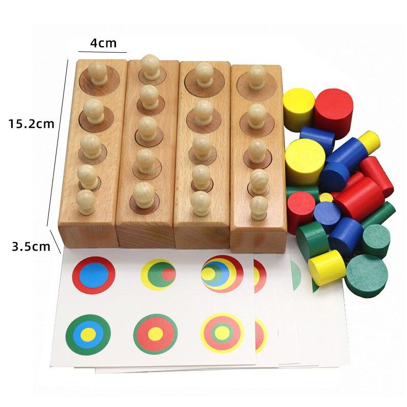 Kids Wooden Montessori Toys Memory Match Stick Educational Color Cognitive Geometric Shape Puzzles Toys For Children 14